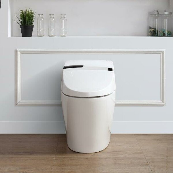 Alfred 1.6 GPF Round Toilet Bowl with Touchless Flush by Ove Decors