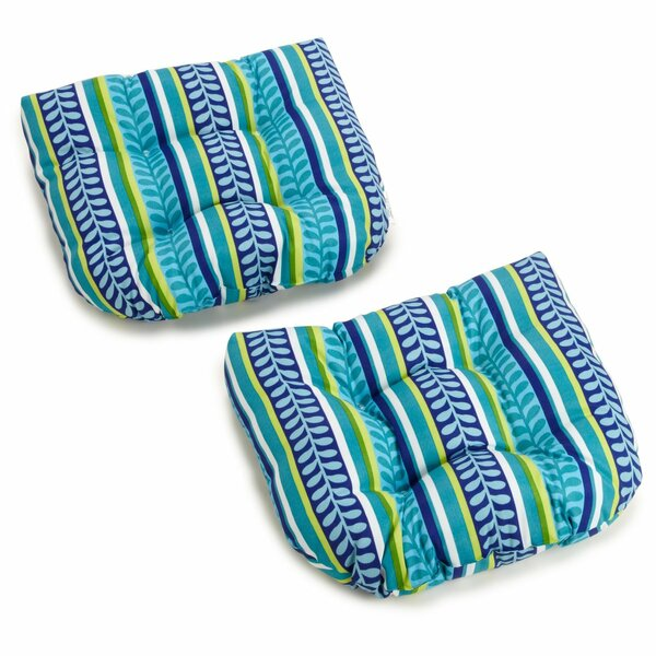 Pike Indoor/Outdoor Adirondack Chair Cushion (Set of 2) by Blazing Needles