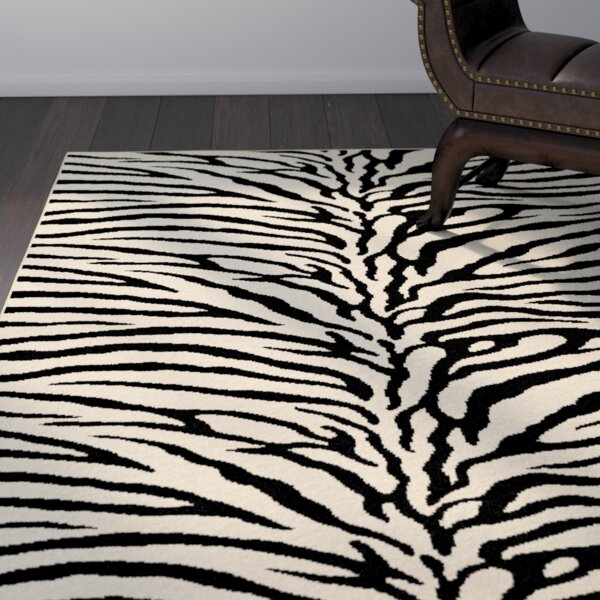 Pembroke Pines Beige Animal Oval Area Rug by Bloomsbury Market