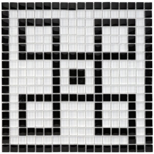 Sierra Greek Key 0.57 x 0.57 Porcelain Mosaic Tile in Black/White by EliteTile