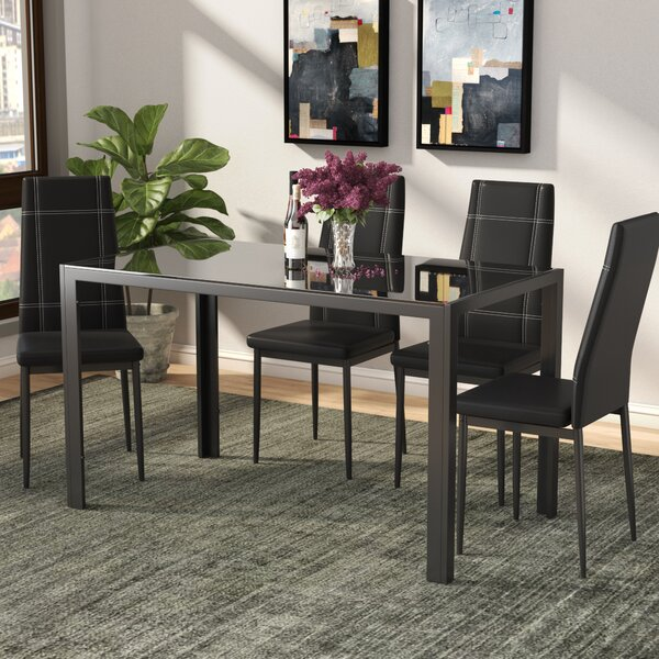 Maynard 5 Piece Dining Set By Ebern Designs #1