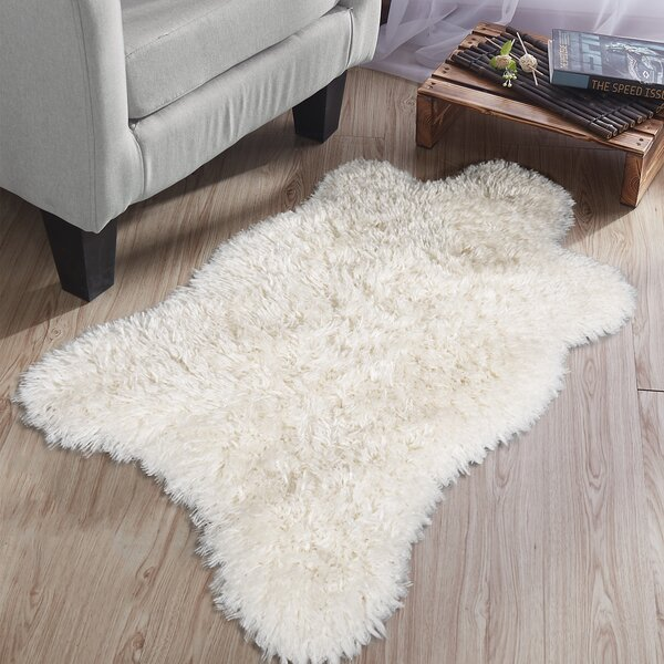 Costantino High Pile Design Ivory Area Rug by Wrought Studio