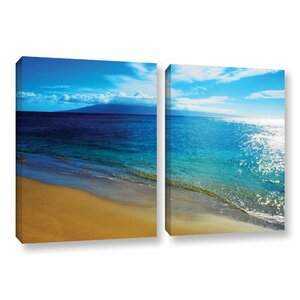 Blue Hawaii by Kathy Yates 2 Piece Photographic Print on Wrapped Canvas Set by ArtWall
