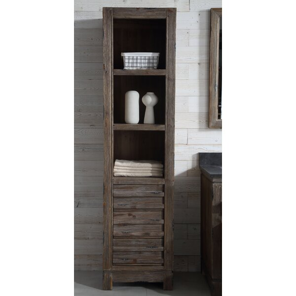 Aubree 20.1 W x 78.7 H Linen Tower by Union Rustic