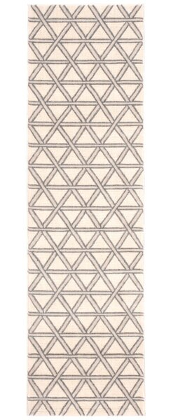 Hollywood Shimmer Metro Crossing Gray/Tan Area Rug by Kathy Ireland Home