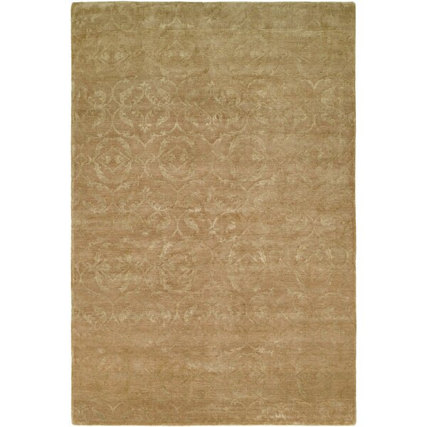 Faridkot Hand-Knotted Butternut Area Rug by Meridian Rugmakers