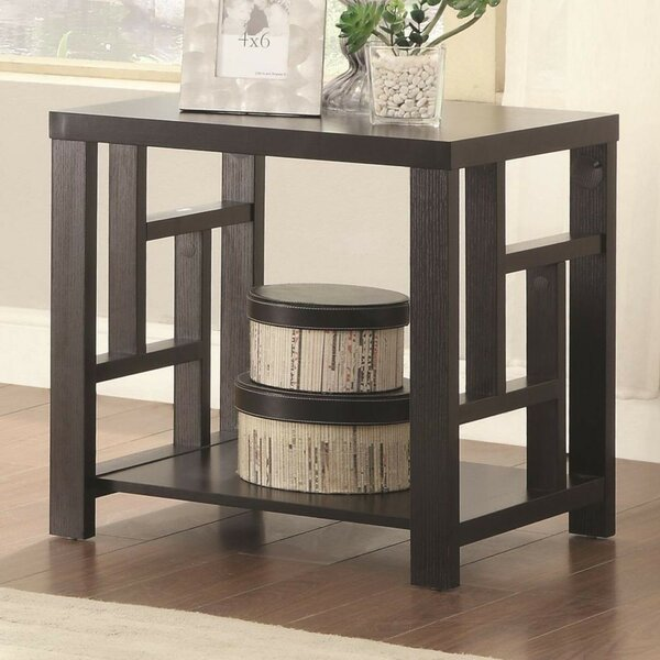 Sheron Wood End Table By Wrought Studio