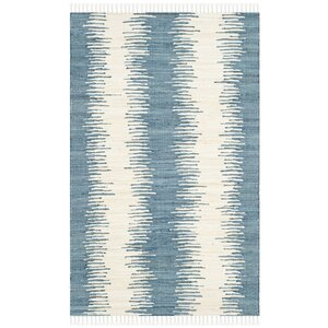 Portsmouth Hand Woven Cotton Blue/Ivory Area Rug