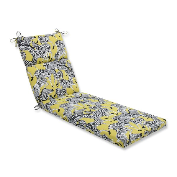 Herd Together Wasabi Indoor/Outdoor Chaise Lounge Cushion by Pillow Perfect