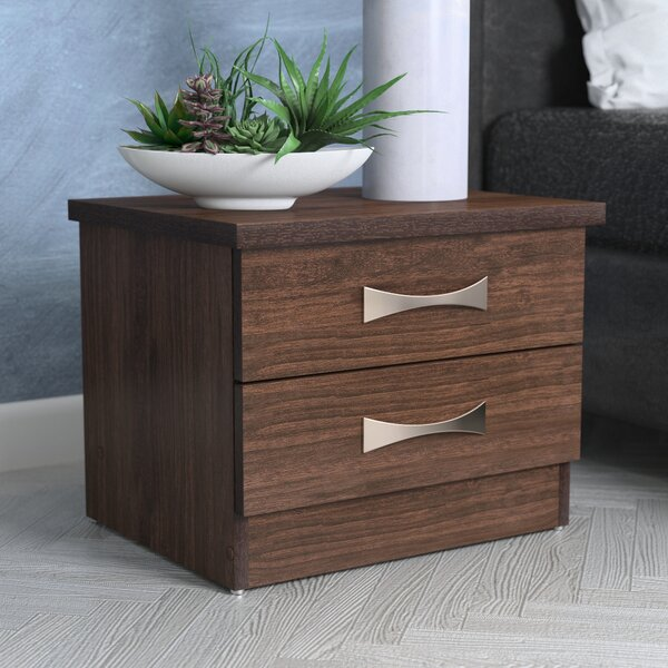 Hinkson 2 Drawer Nightstand by Wrought Studio