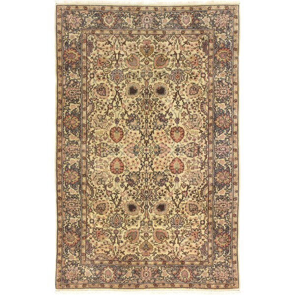 One-of-a-Kind Bardin Hand-Woven Wool Ivory/Brown Area Rug by Canora Grey