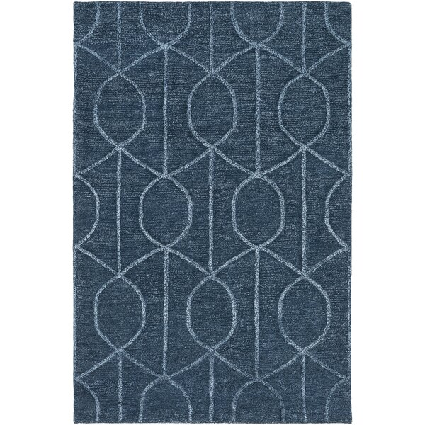 Abbey Hand-Tufted Blue Area Rug by Wade Logan