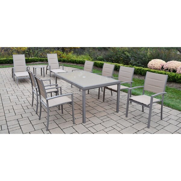 Padded Sling 10 Piece Dining Set by Oakland Living