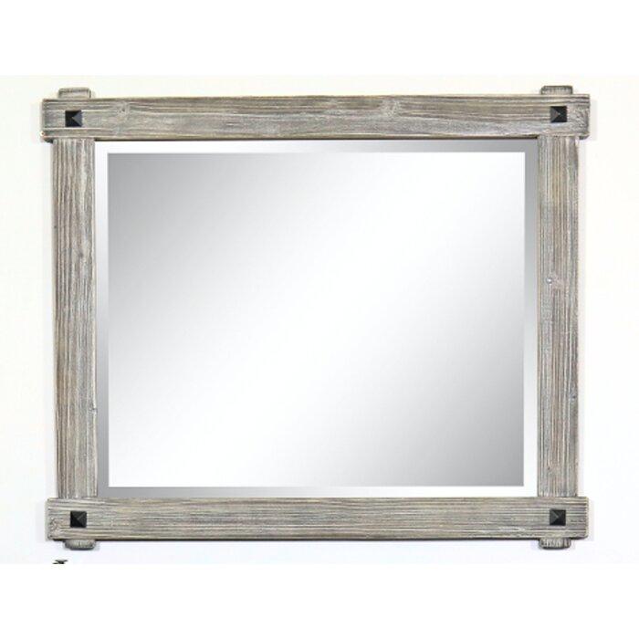 Longmeadow Rustic Wood Framed Bathroom Vanity Mirror