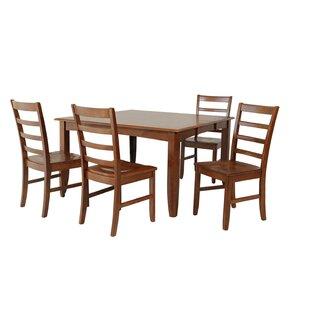 Venizelos 5 Piece Solid Wood Dining Set ByRed Barrel Studio
