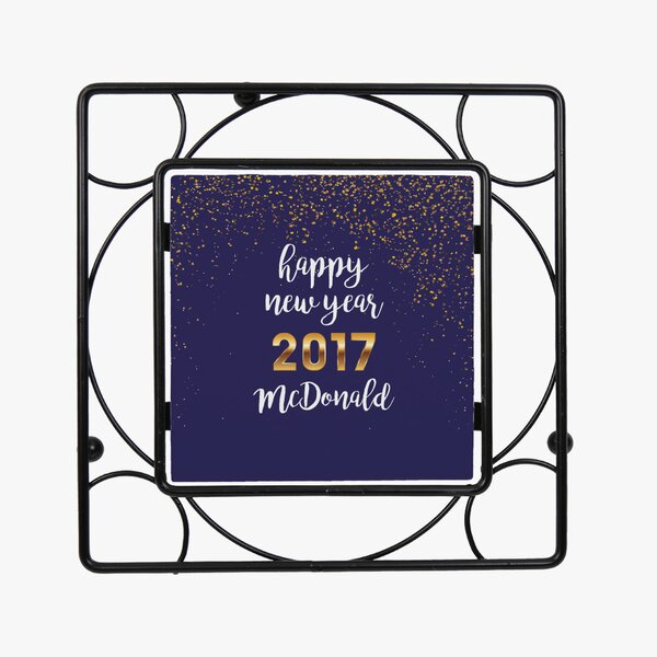Personalized Happy New Year Trivet by Monogramonline Inc.