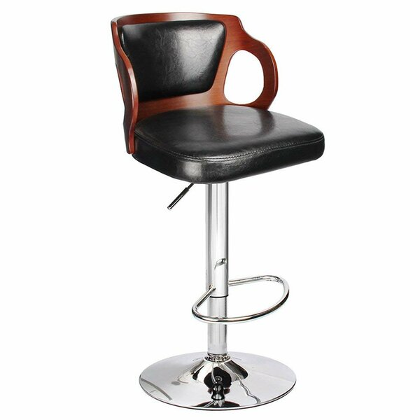 Hartung Adjustable Height Swivel Bar Stool by Orren Ellis