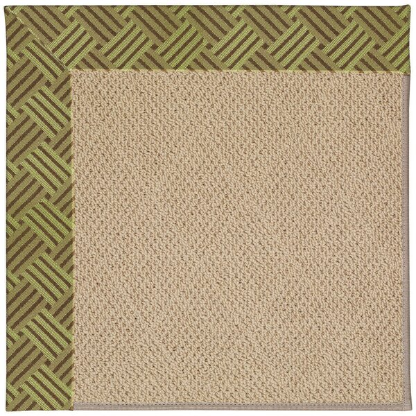 Lisle Machine Tufted Mossy Green/Brown Indoor/Outdoor Area Rug by Longshore Tides