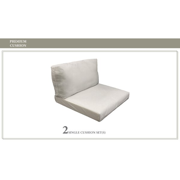 Monaco Outdoor 4 Piece Lounge Chair Cushion Set by TK Classics