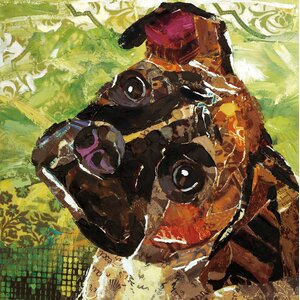 Art Dog Boxer by Sandy Doonan Painting Print on Wrapped Canvas by Portfolio Canvas Decor
