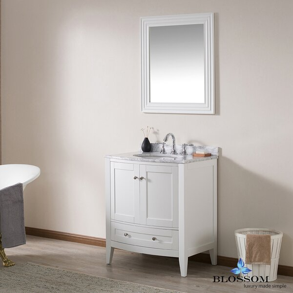 Glendale 30 Single Bathroom Vanity Set with Mirror by Darby Home Co