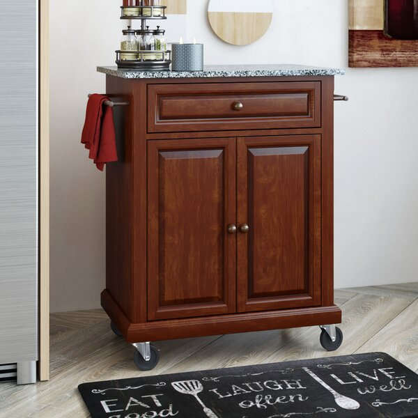 Looking for Hedon Portable Kitchen Cart With Granite Top By Three Posts No Copoun