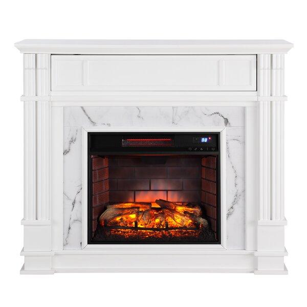 Shanks Birch Veneer Electric Fireplace by Alcott Hill Alcott Hill