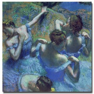 Blue Dancers 1899 by Edgar Degas Painting Print on Wrapped Canvas by Trademark Fine Art