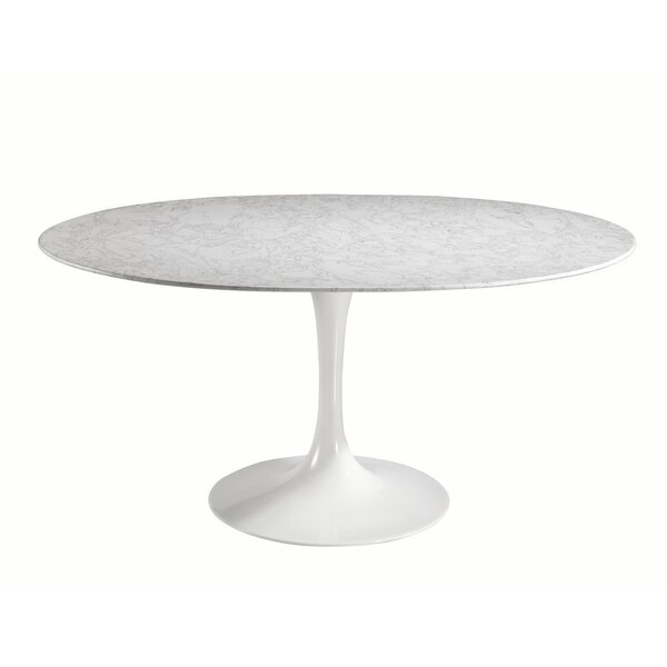 Sariah Oval Artificial Marble Dining Table by Ivy Bronx