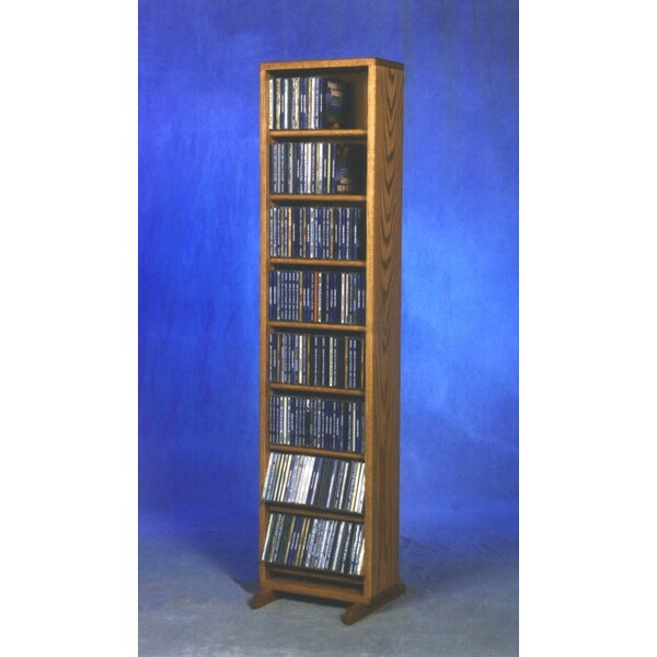 800 Series 208 CD Dowel Multimedia Storage Rack by Wood Shed