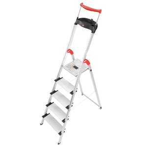 5.51 ft Aluminum Step Ladder with 330 lb. Load Capacity