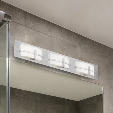 Lippert 3-Light Bath Bar by Latitude Run