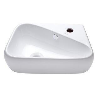 Shop For Ceramic 18 Wall Mount Bathroom Sink By Elanti