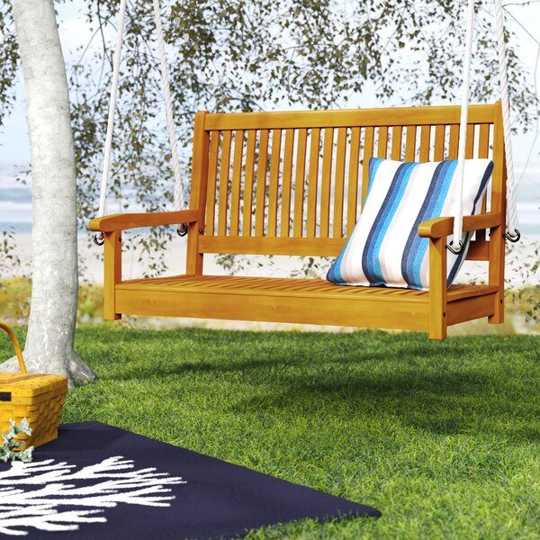 Portland Wood Porch Swing by Beachcrest Home