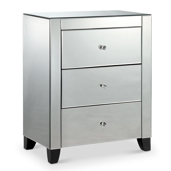 Sheffield 3 Drawer Nightstand by Everly Quinn Everly Quinn