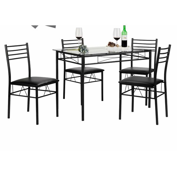 Lightle 5 Piece Breakfast Nook Dining Set by Ebern Designs