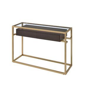 Danyel Glass Console Table by Everly Quinn