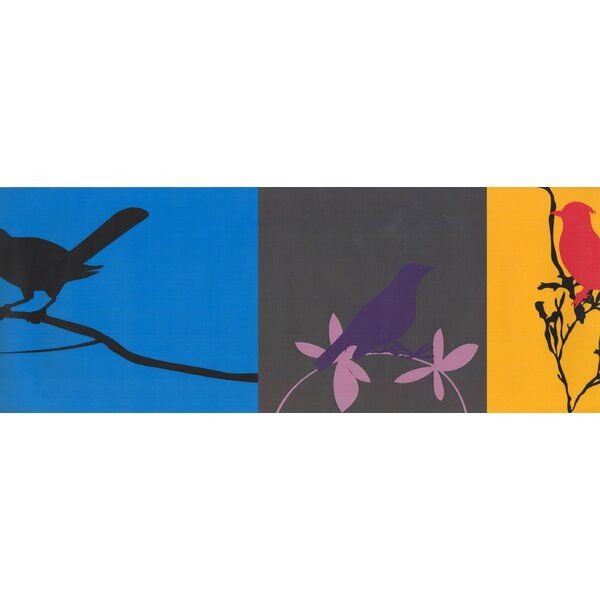Funchess Mauve Birds Abstract Wallpaper by Red Barrel Studio