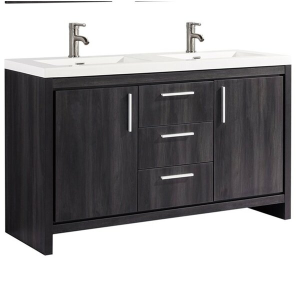 Peiffer Modern 59 Double Bathroom Vanity Set by Orren Ellis