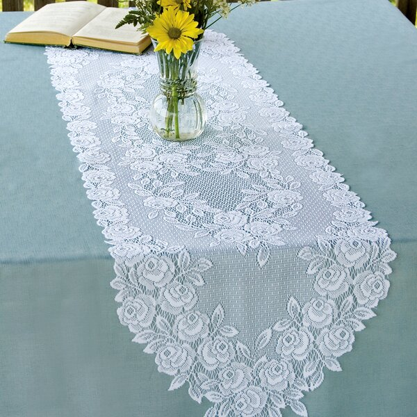 Tea Rose Runner by Heritage Lace
