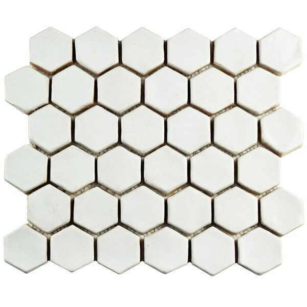 Greenwich 1.88 x 2.13 Ceramic Mosaic Tile in White by EliteTile