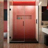 Unidoor Plus 58.5 x 72 Hinged Frameless Shower Door with Clearmax™ Technology byDreamLine