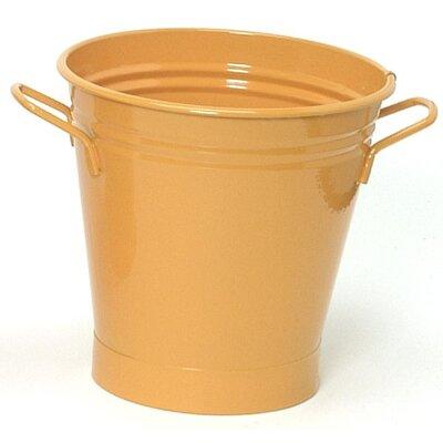 Enameled French Pail Steel Bucket Winston Porter Color: Glazed Caramel - Glazed Green