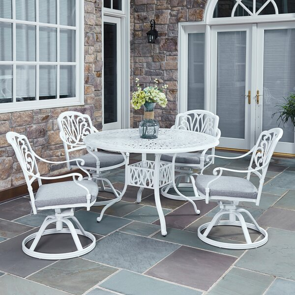Floral Blossom 5 Piece Dining Set with Cushions by Home Styles