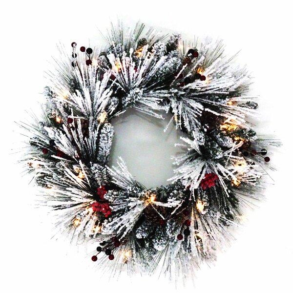 Winter 24 Lighted Wreath by Kurt Adler