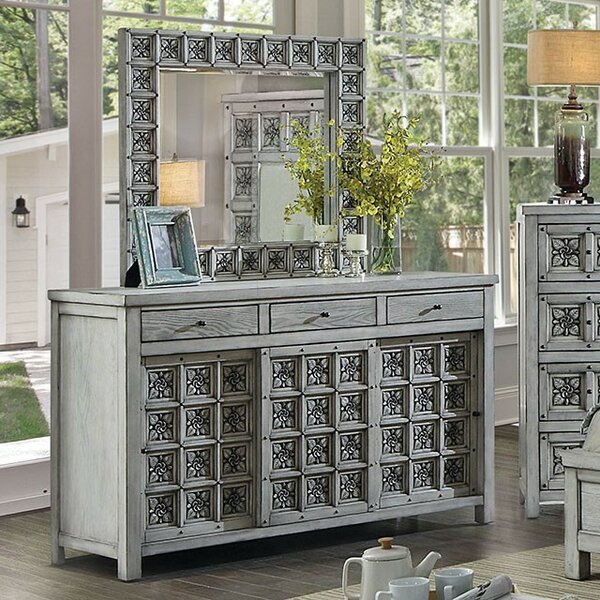 Cali 3 Drawer Double Dresser with Mirror by Rosdorf Park