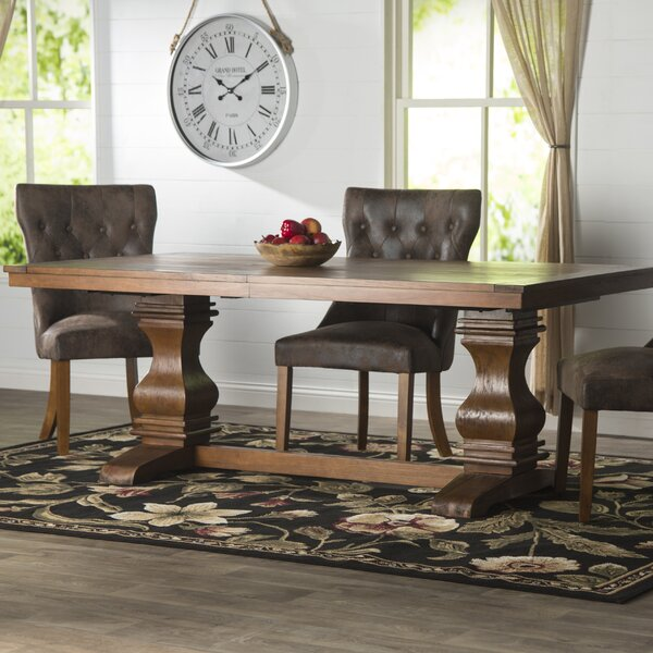 Parfondeval Extendable Wood Dining Table by Lark Manor