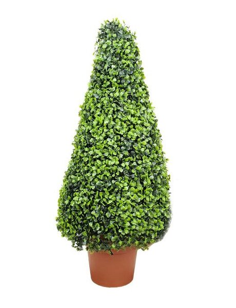 Two-Tone Artificial Boxwood Tower Cone Topiary Tree in Pot by Northlight Seasonal