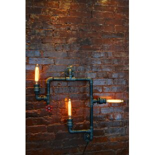 Steampunk 3 Light Industrial Pipe Wall