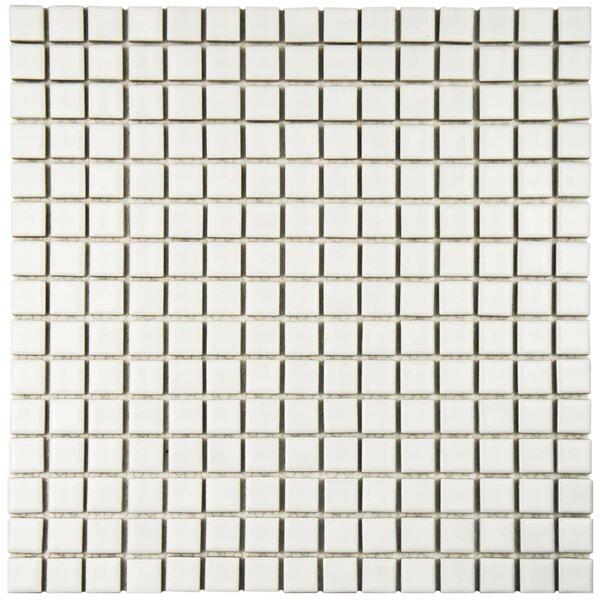 Morgan 0.72 x 0.72 Porcelain Mosaic Tile in White by EliteTile